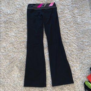 Black/Pink Lululemon Bellbottom Sweatpants